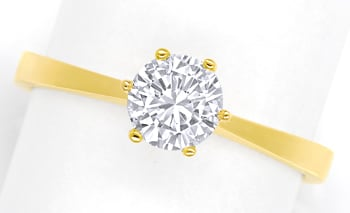Foto 1 - 0,63ct Brillant Solitär IGI Expertise Ring 18K Gelbgold, Q1776