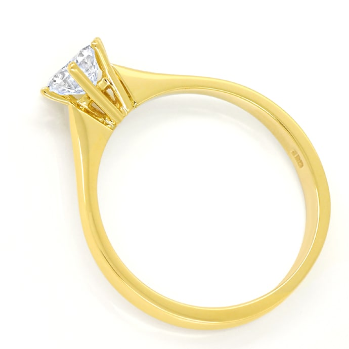 Foto 3 - 0,63ct Brillant Solitär IGI Expertise Ring 18K Gelbgold, Q1776
