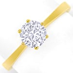 0,63ct Brillant Solitär IGI Expertise Ring 18K Gelbgold