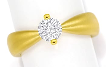 Foto 1 - Design Diamantring mit 0,70ct Brillant Solitär Gelbgold, Q1780
