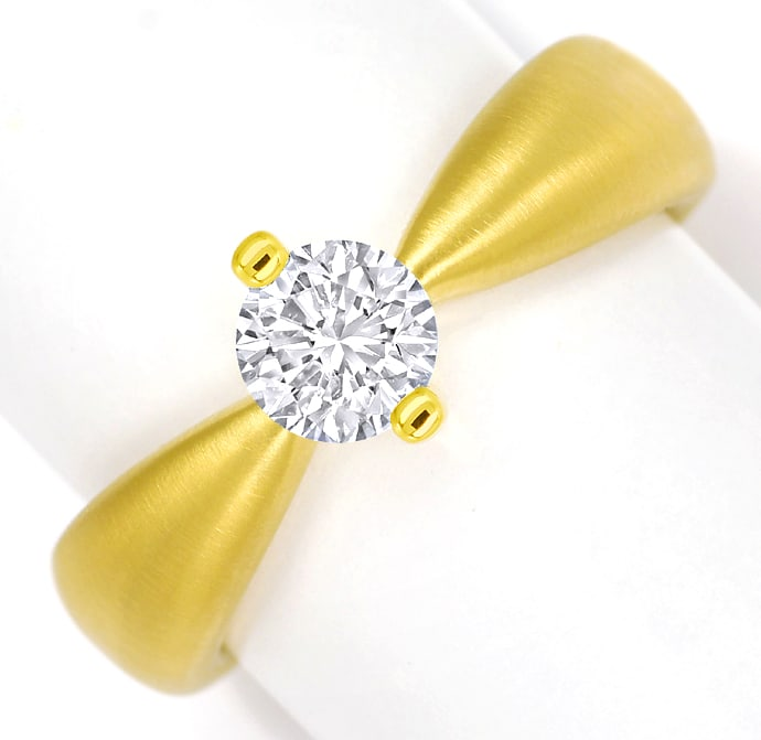 Foto 2 - Design Diamantring mit 0,70ct Brillant Solitär Gelbgold, Q1780