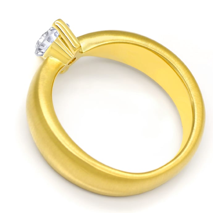 Foto 3 - Design Diamantring mit 0,70ct Brillant Solitär Gelbgold, Q1780