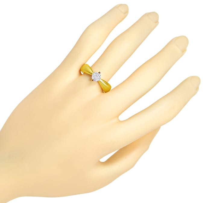 Foto 4 - Design Diamantring mit 0,70ct Brillant Solitär Gelbgold, Q1780