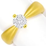 Design Diamantring mit 0,70ct Brillant Solitär Gelbgold