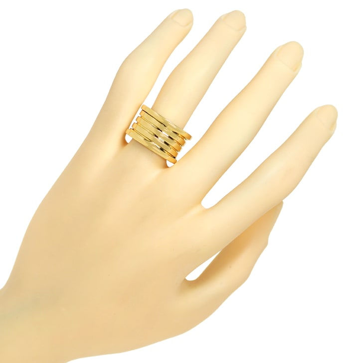 Foto 4 - Bulgari BVLGARI Ring B.Zero 1, 4 Band in Gelbgold, Q1832