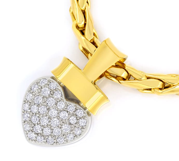 Foto 2 - Herz Collier mit 0,45ct Brillanten 14K Bicolor, Q1874