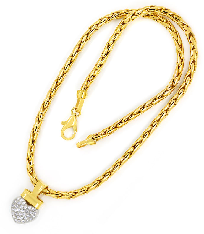 Foto 3 - Herz Collier mit 0,45ct Brillanten 14K Bicolor, Q1874