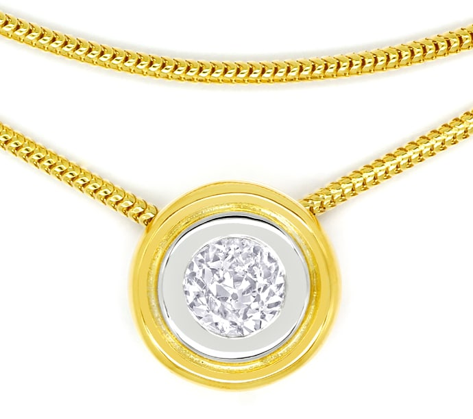 Foto 2 - Collier mit 0,75ct Diamant Solitär in 18K Gold, Q1880