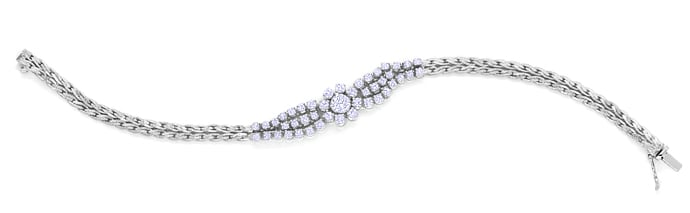 Foto 1 - Diamantarmband mit 2,86ct Brillanten in Weißgold, Q1963