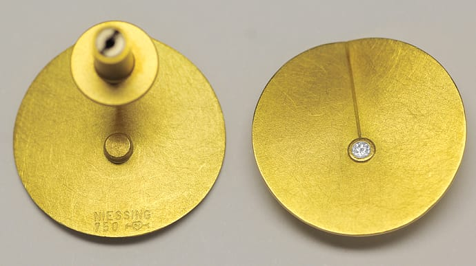 Foto 3, Niessing Leaf Collier und Ohrstecker 18K Gold, Q2032