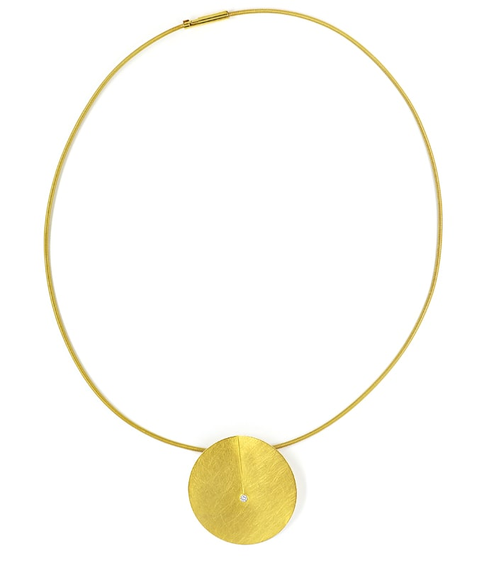 Foto 4, Niessing Leaf Collier und Ohrstecker 18K Gold, Q2032