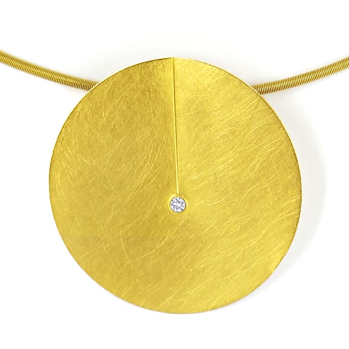 Foto 5, Niessing Leaf Collier und Ohrstecker 18K Gold, Q2032
