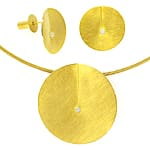 Niessing Leaf Collier und Ohrstecker 18K Gold