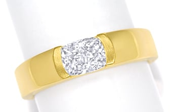 Foto 1 - Diamantring 0,81ct Cushion Brillant IGI in Gelbgold, Q2050