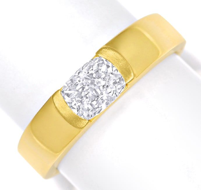 Foto 2 - Diamantring 0,81ct Cushion Brillant IGI in Gelbgold, Q2050