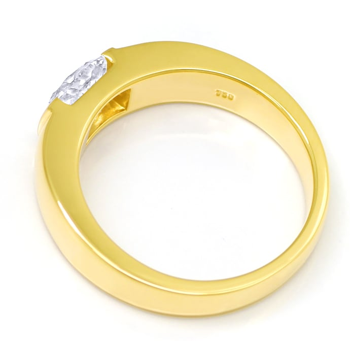 Foto 3 - Diamantring 0,81ct Cushion Brillant IGI in Gelbgold, Q2050