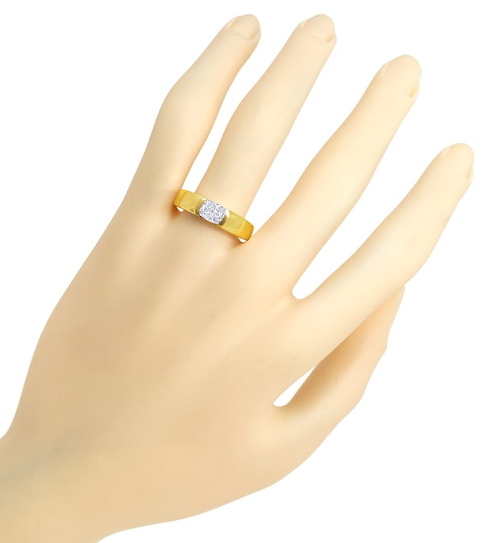 Foto 4 - Diamantring 0,81ct Cushion Brillant IGI in Gelbgold, Q2050