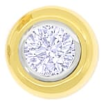 Diamant Ohrstecker 0,66ct Brillanten 18K Bicolor Gold