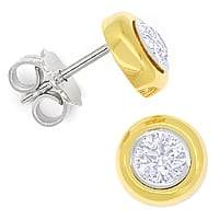 zum Artikel Diamant Ohrstecker 0,66ct Brillanten 18K Bicolor Gold, Q2074