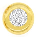 Zargen Ohrstecker mit 0,57ct Brillanten 18K Gold