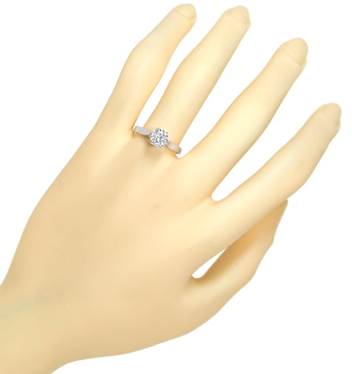 Foto 4 - Diamant Solitärring 1,11ct Brillant in Weissgold, Q2145