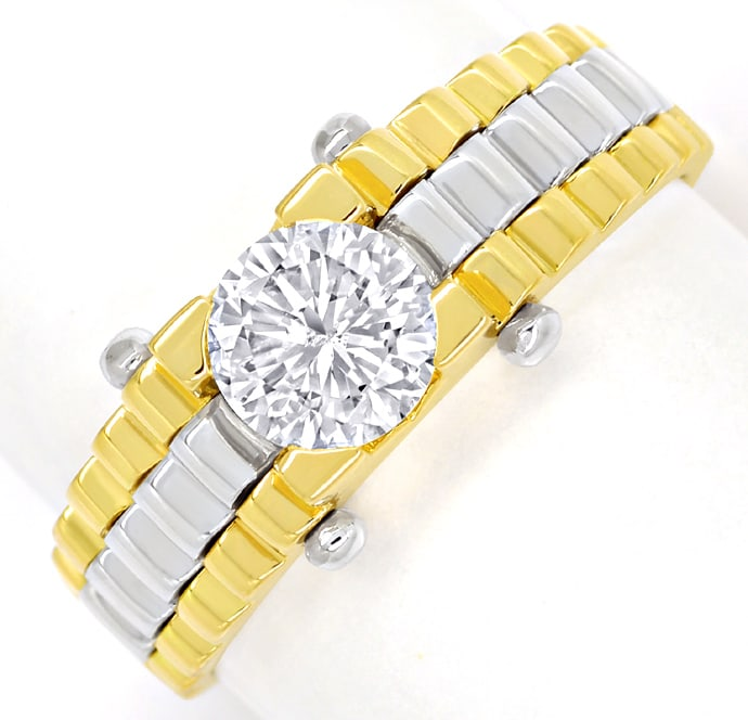 Foto 2 - Design Diamantring 0,88ct Brillant Solitär 18K Gold, Q2147