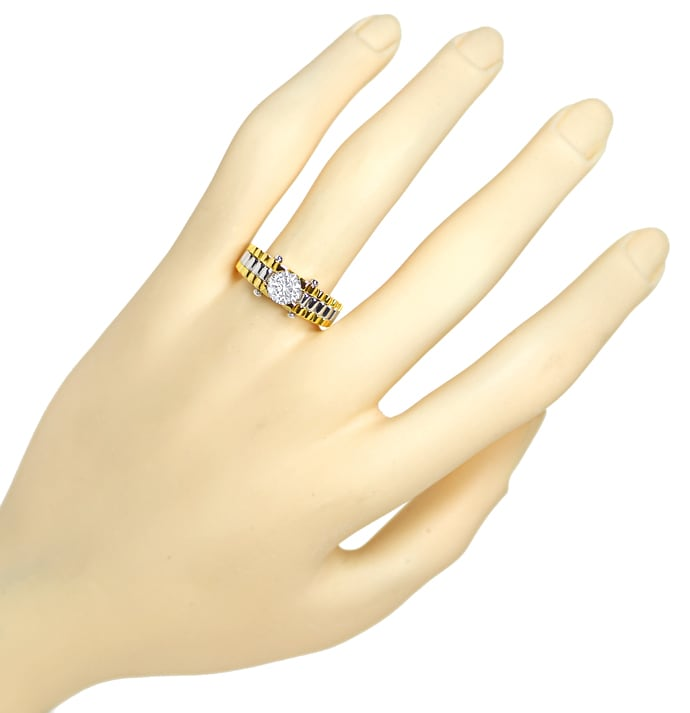 Foto 4 - Design Diamantring 0,88ct Brillant Solitär 18K Gold, Q2147