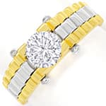Design Diamantring 0,88ct Brillant Solitär 18K Gold