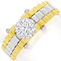 zum Artikel Design Diamantring 0,88ct Brillant Solitär 18K Gold, Q2147