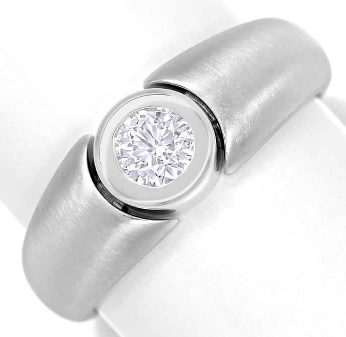 Foto 2 - Diamantring 0,35ct Brillant Solitär 18K Weissgold, Q2148