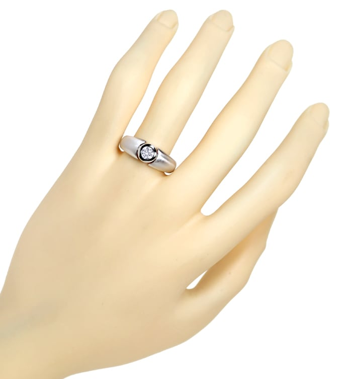 Foto 4 - Diamantring 0,35ct Brillant Solitär 18K Weissgold, Q2148