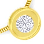 Diamantcollier 18K Gold mit 0,35ct Brillant GIA