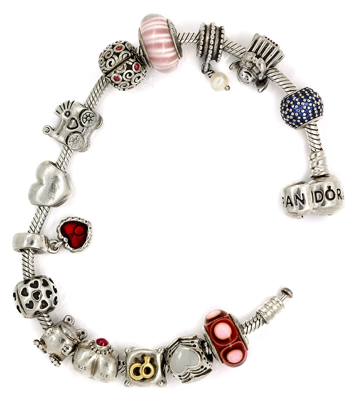 Foto 2 - Pandora Armband mit 14 Charms in Sterling Silber, Q2204