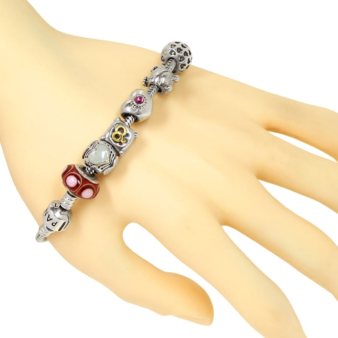 Foto 3 - Pandora Armband mit 14 Charms in Sterling Silber, Q2204