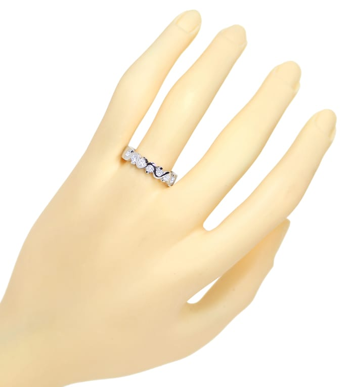 Foto 4 - Allianz Halbmemory Diamantring 0,44ct Brillanten, Q2354