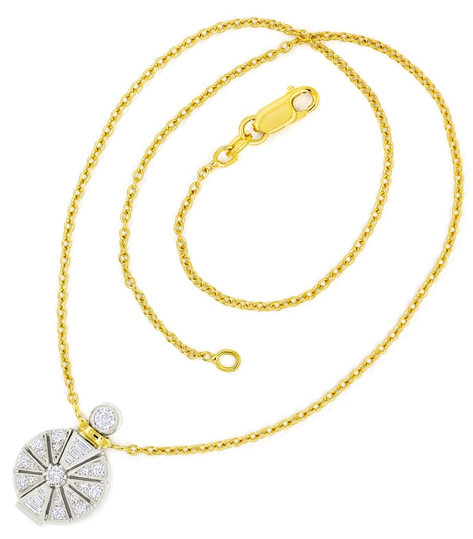 Foto 3, Designer Collier Platin Gold mit 0,89ct Diamanten, Q2398