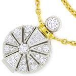 Designer Collier Platin Gold mit 0,89ct Diamanten