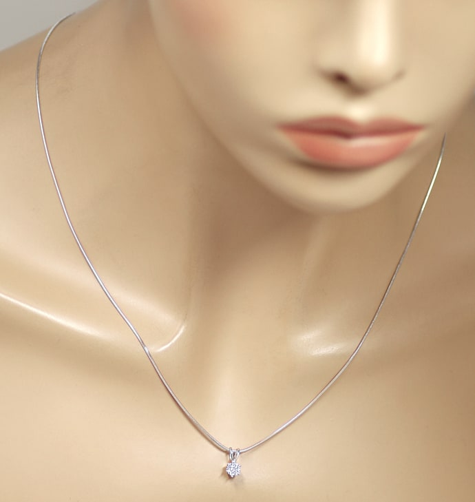 Foto 4 - Brillant Solitär 0,38ct in 18K Weißgold Collier, Q2407