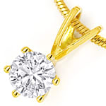 Gelbgold Collier mit 0,35ct Solitär Brillant in 18K