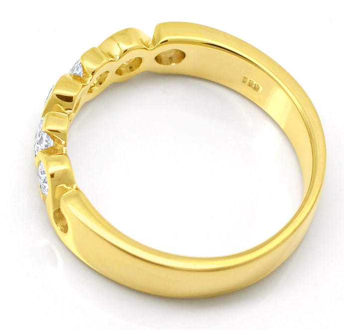 Foto 3, Allianzring Halbmemoryring 0,55ct Brillanten 18K Gold, Q2453