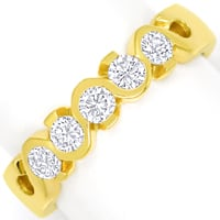 zum Artikel Allianzring Halbmemoryring 0,55ct Brillanten 18K Gold, Q2453