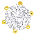Brillant Krappen Ohrstecker 0,45ct in 750er Gelbgold