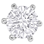 Spitzen Brillant Ohrstecker 0,60ct in 18K Weissgold