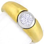 Design Bandring 0,42ct lupenreiner Brillant in 18K Gold