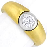 zum Artikel Design Bandring 0,42ct lupenreiner Brillant in 18K Gold, Q2552