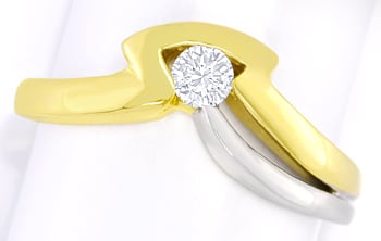 Foto 1 - Designer Diamantring 0,16ct Brillant 14K Gold, Q2662