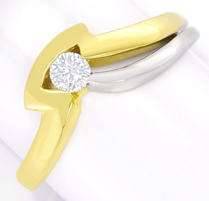 Foto 2 - Designer Diamantring 0,16ct Brillant 14K Gold, Q2662