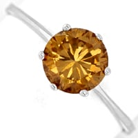 zum Artikel Weißgoldring 1,18ct Brillant Fancy Brown IGI, Q2758