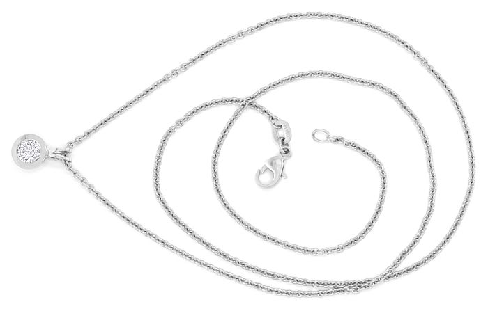 Foto 1 - Collier 0,32ct GIA 3ex Brillant in 950 Platin, Q2759
