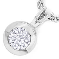 zum Artikel Collier 0,32ct GIA 3ex Brillant in 950 Platin, Q2759